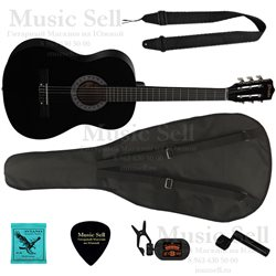 Prado Small Guitar Classic SET Black - Полный Комплект!