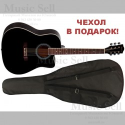 Phil Pro Dreadnought Cutaway Black + Чехол!