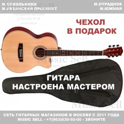Phil Pro Folk Cutaway Natural + Чехол!