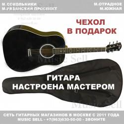 N.Amati Dreadnought Black + Чехол!