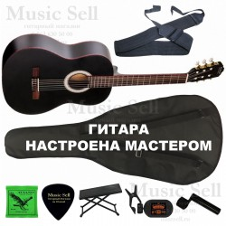 N.Amati Guitar Classic SET Black - Полный Комплект!