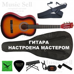 Prado Small Guitar Classic SET Sunburst - Полный Комплект!