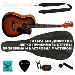 Colombo Folk Cutaway SET Sunburst - Полный Комплект!