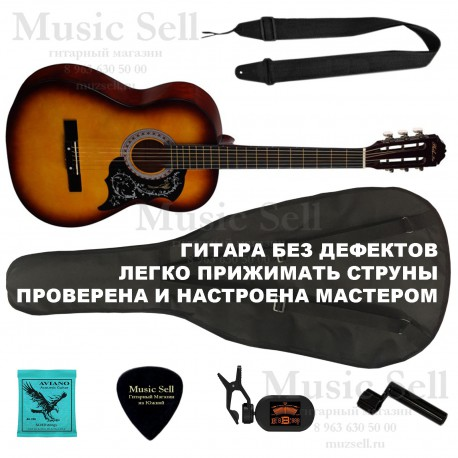 Phil Pro Folk Wide Neck SET Sunburst - Полный Комплект!