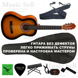 Colombo Guitar Classic SET Sunburst - Полный Комплект!