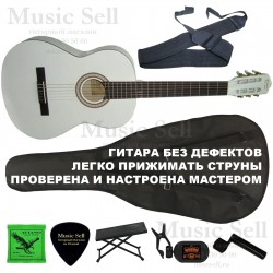 N.Amati Guitar Classic SET White - Полный Комплект!