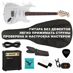 Ashtone Strat S-S-S SET White + Чехол!