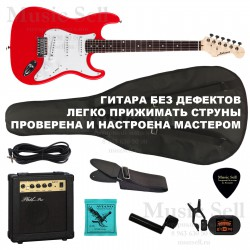 Ashtone Strat S-S-S SET RED+ Чехол!