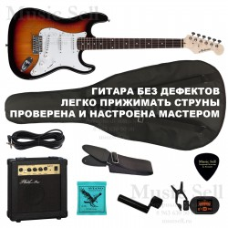 Ashtone Strat S-S-S SET Sunburst+ Чехол!