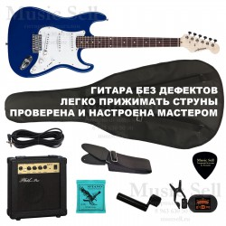 Ashtone Strat S-S-S SET Blue+ Чехол!