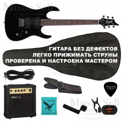Zombie Superstrat H-H SET Black+ Чехол!