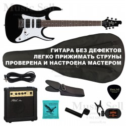 Zombie Superstrat H-S-H SET Black+ Чехол!