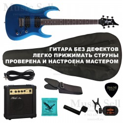 Zombie Superstrat H-H SET Blue+ Чехол!