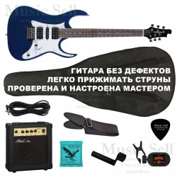 Zombie Superstrat H-S-H SET Blue+ Чехол!