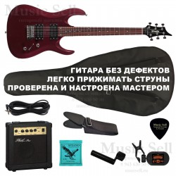 Zombie Superstrat H-H SET Red+ Чехол!