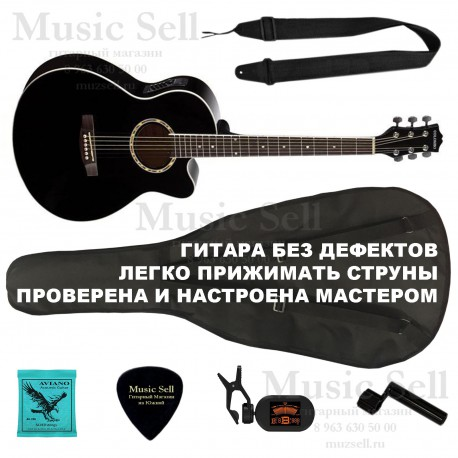 Colombo Folk Cutaway Electro SET Black + Чехол!