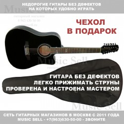Madeira Twelve Dreadnought Spruce Black + Чехол!
