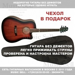 Madeira Dreadnought Spruce Brown + Чехол!