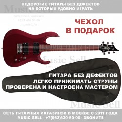 Zombie Superstrat H-H Red + Чехол!